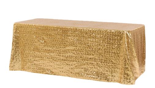 Gold Diamond Glitz 90x156 - Linen