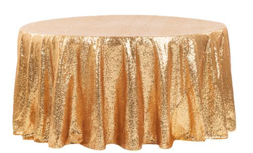 Gold Diamond Sequin Glitz - Linen 120R