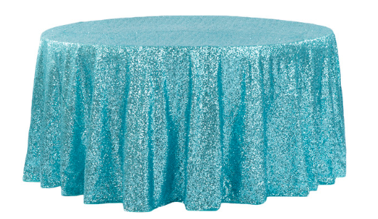 Turquoise Glitz 120R - Linen
