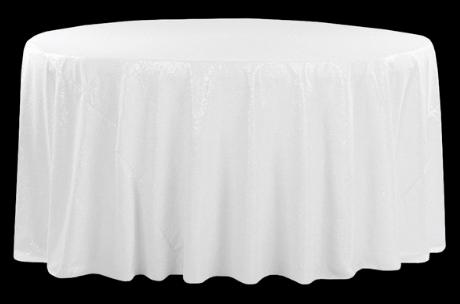 White Sequin Glitz Linen
