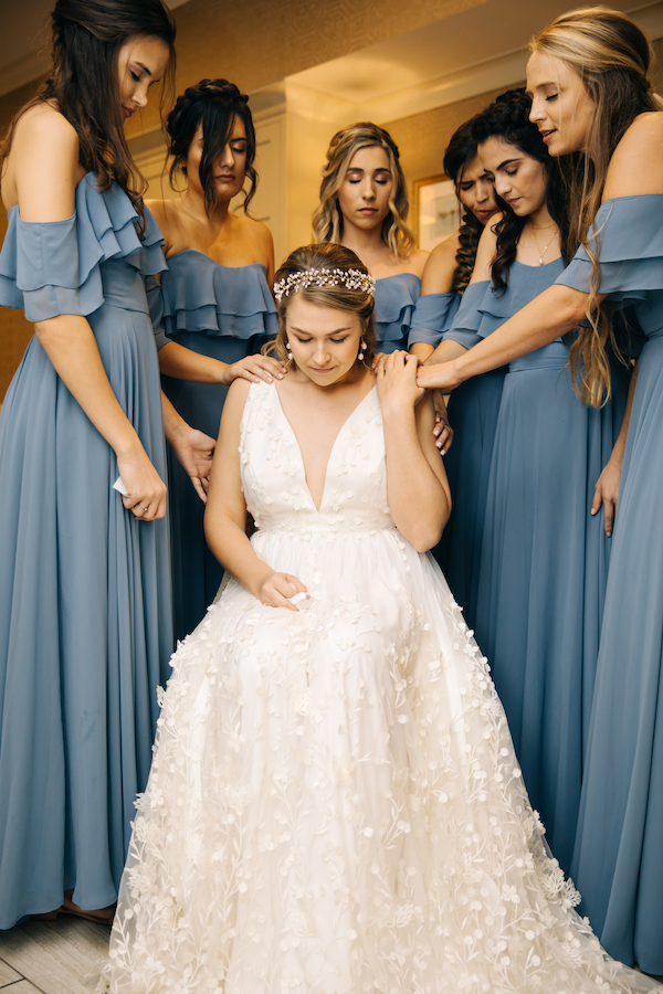 Southern Charm Events – Southern Charm Rentals – Atlantic Beach Country Club - praying with the bride