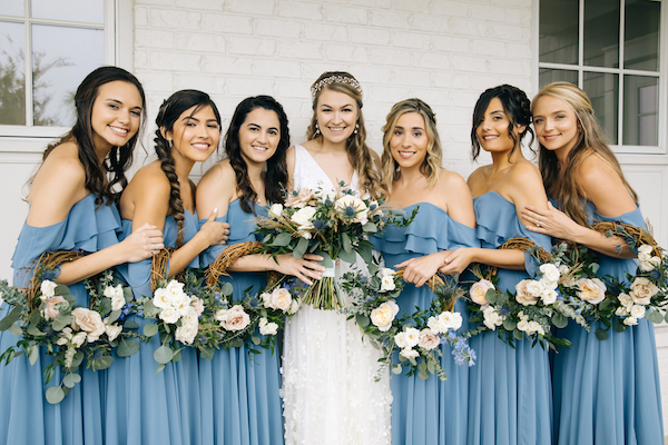 Southern Charm Events – Southern Charm Rentals – Atlantic Beach Country Club -  bridal party floral hoops