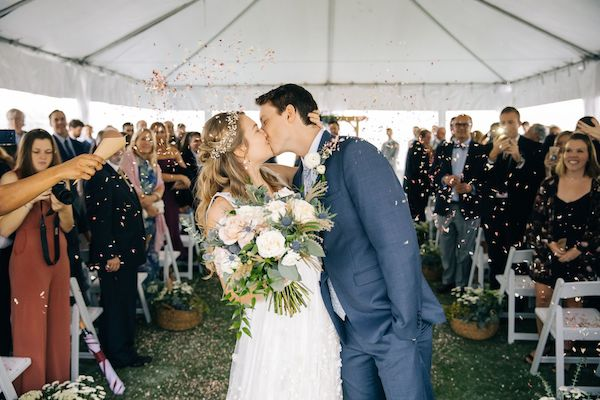 Southern Charm Events – Southern Charm Rentals – Atlantic Beach Country Club -  just married - first kiss.jpg