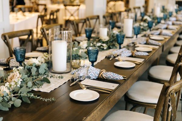 Southern Charm Events – Southern Charm Rentals – Atlantic Beach Country Club - farmhouse table - head table.jpg