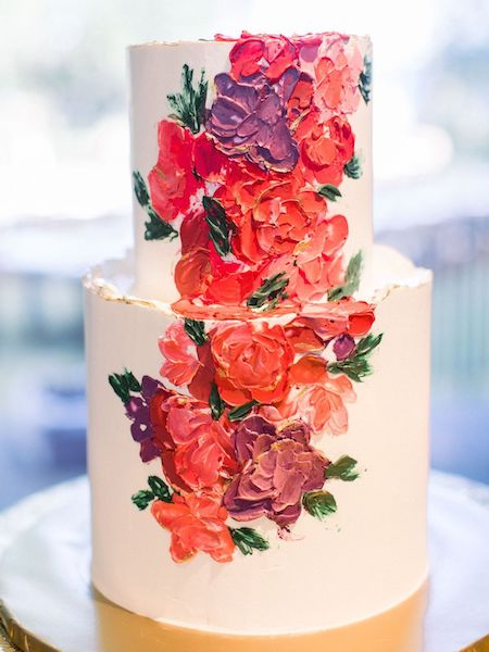 Southern Charm Events- Jacksonville wedding planner – Cummer Museum wedding - wedding cake with buttercream flowers.jpg