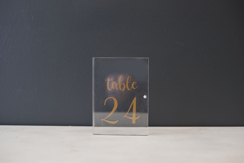 Acrylic Table Numbers - Gold (#24)