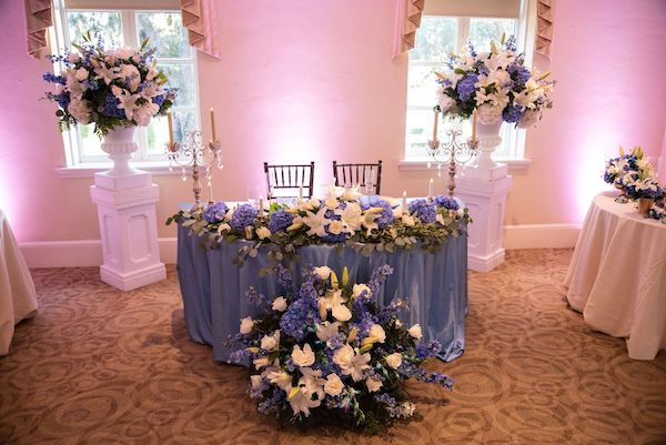 7 - Epping Forest wedding – Southern Charm Events – Jacksonville wedding - sweetheart table - blue floral decor.jpg