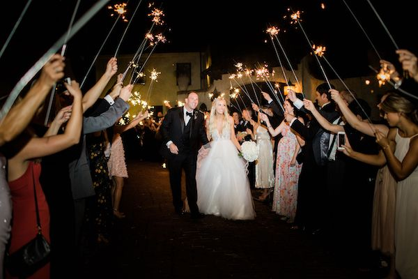 15 - Southern Charm Events – Epping Forest Yacht Club wedding – Jacksonville wedding planner – Jacksonville weddings - grand exit with sparklers.jpg