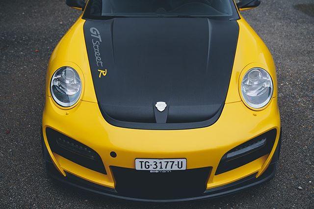 THE YELLOW BEAST . . . #porsche #911 #997 #turbo #gtstreet #techart #gt #gtstreetr #porscheturbo #porsche911  #yellowcar #yellowporsche #porschewerkstatt #porscheschweiz #porscheswitzerland #997.2 #aadorf #thurgau #zurich #switzerland #schweiz #summermood #allemann #allemannperformance #performance #cars #luxurycars #sportscars #techartgtstreetr #techartgtstreet