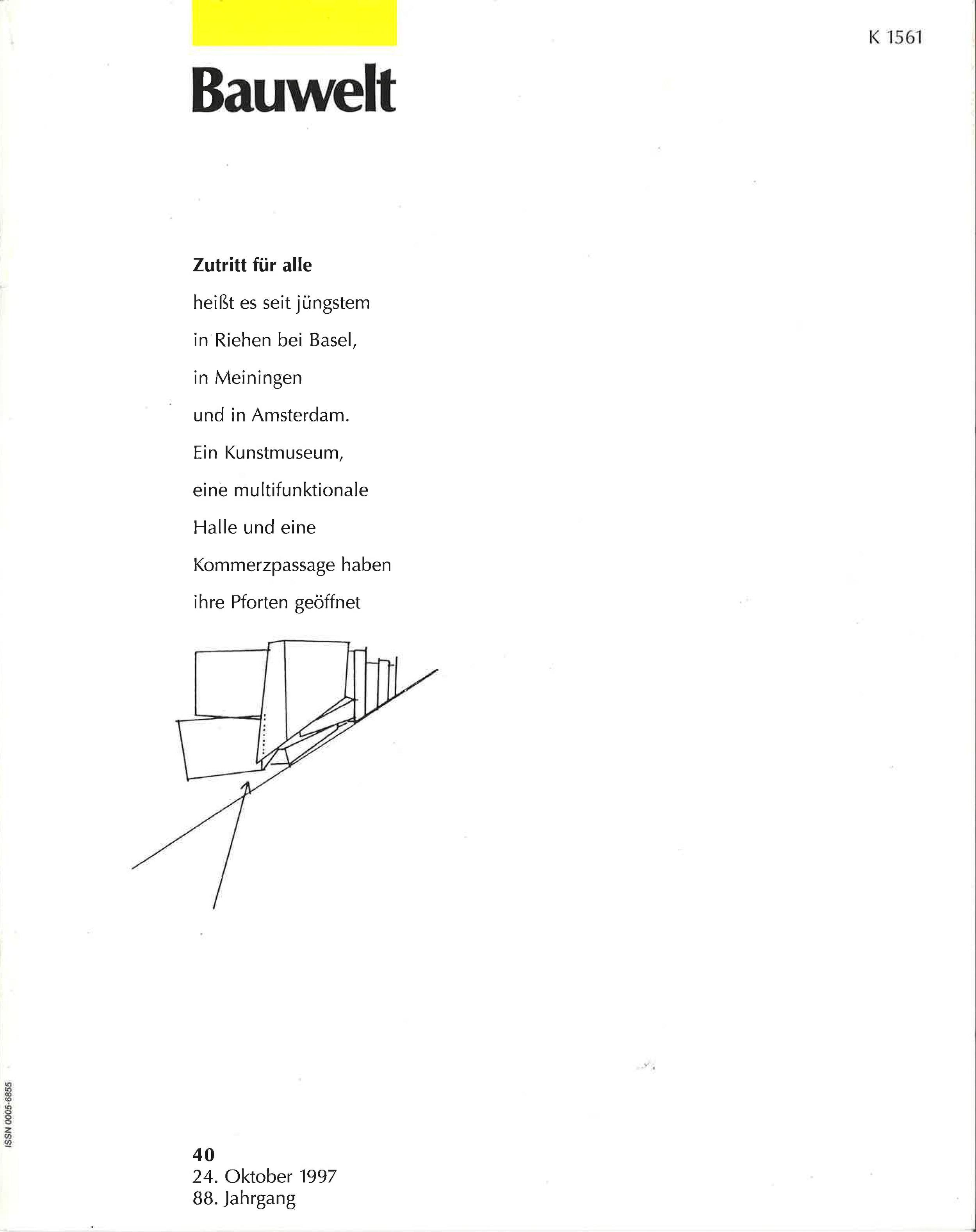 Bauwelt 10.1997 Seite 2254, 2255