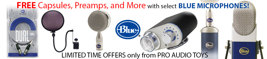 Discounts on Blue at ProAudioToys.com