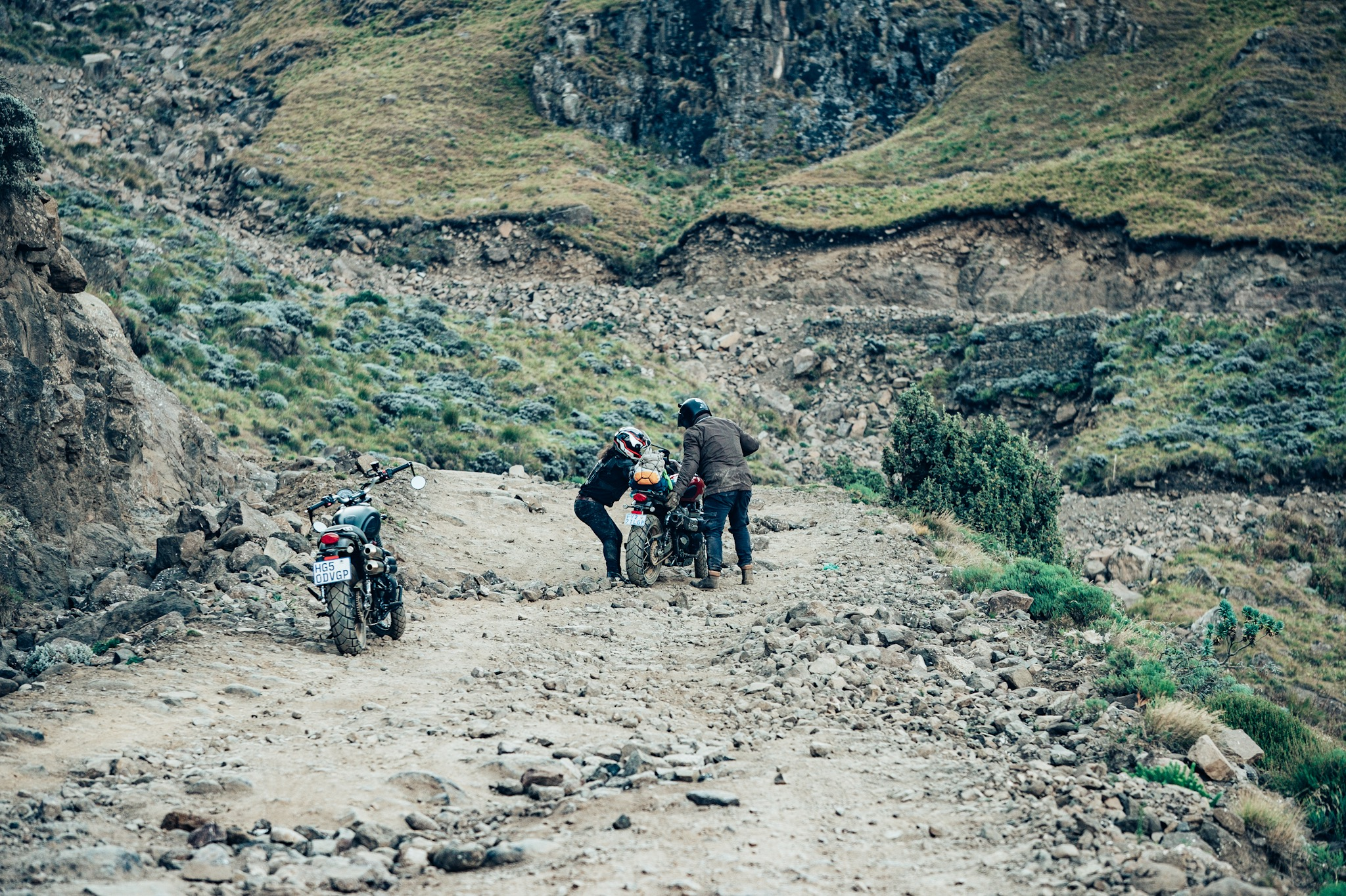 Riding in teams is key to the success of the group. Going up Sani Pass in 2019 was not as easy as we hoped.