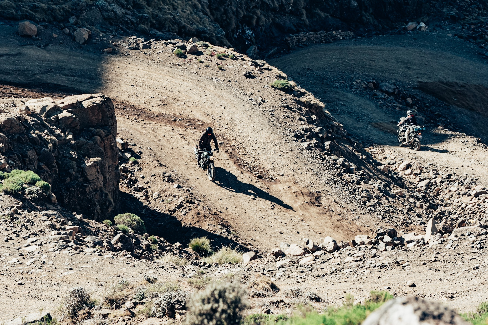 Descending down Sani Pass can be as equally challenging as the way up.