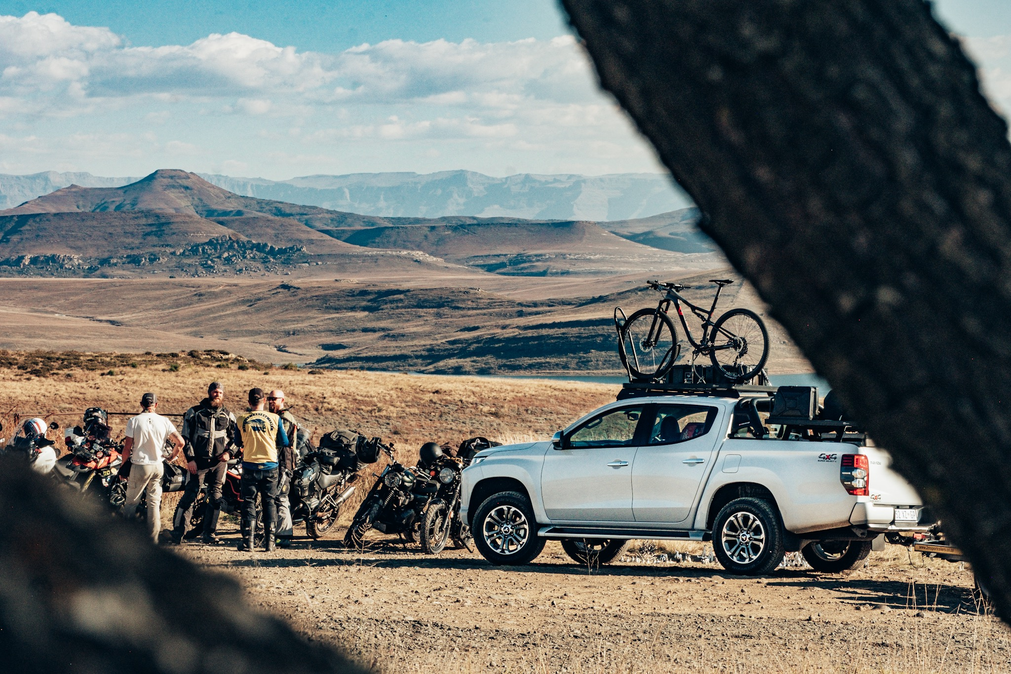 A rest stop at Sterkfontein dam on our recent Sani Pass Moto Adventure.