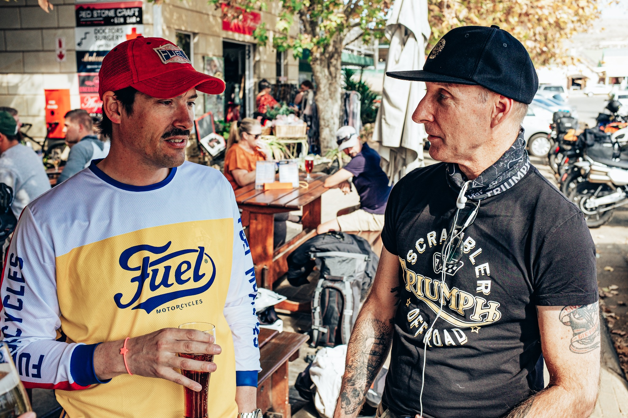 Fuel Motorcycles and the Triumph Scrambler showdown on the Bonafide Moto Adventure to Sani Pass