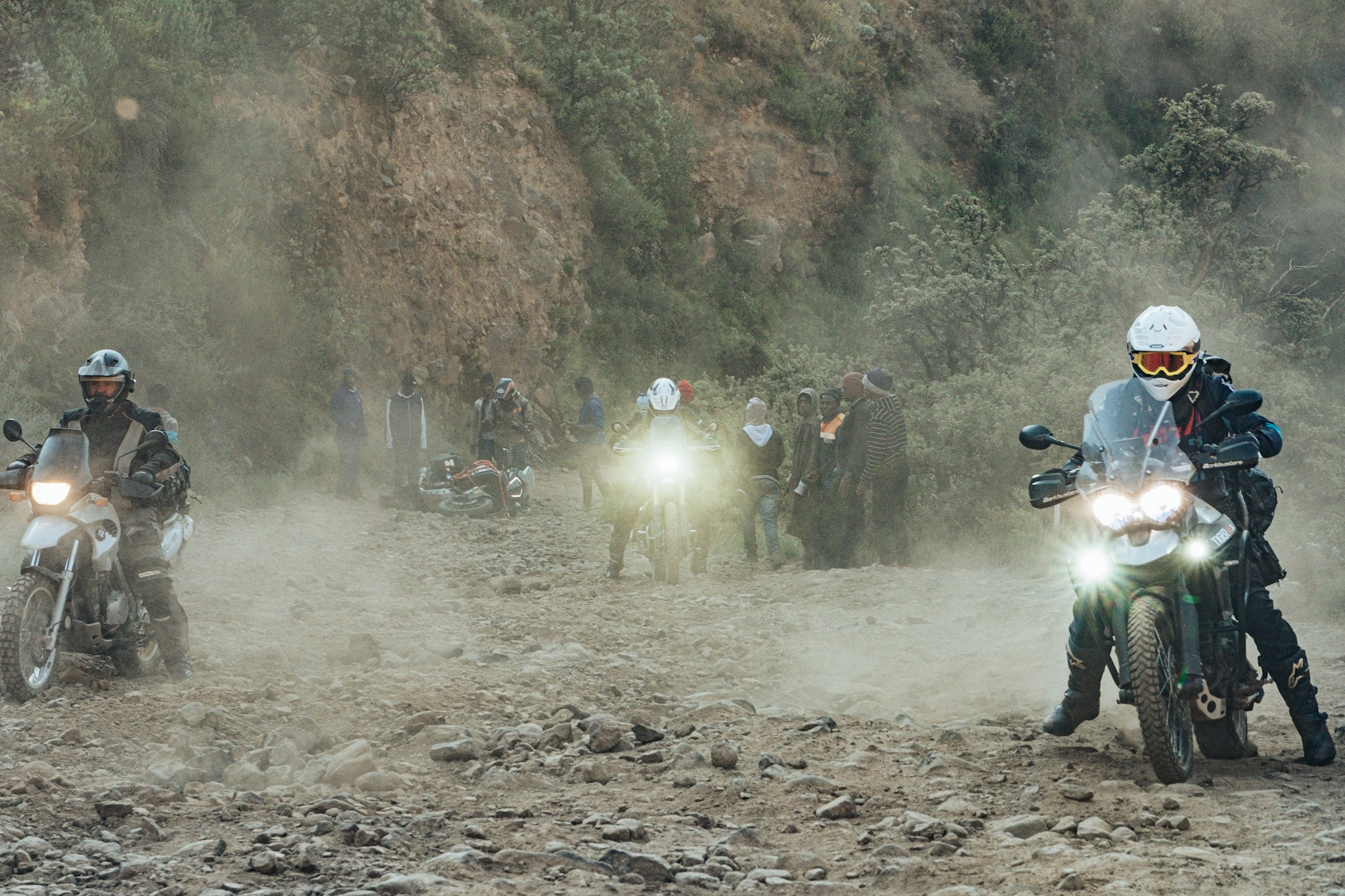 """Bonafide Moto Co now calls this section of Sani Pass the """"death zone."""""""