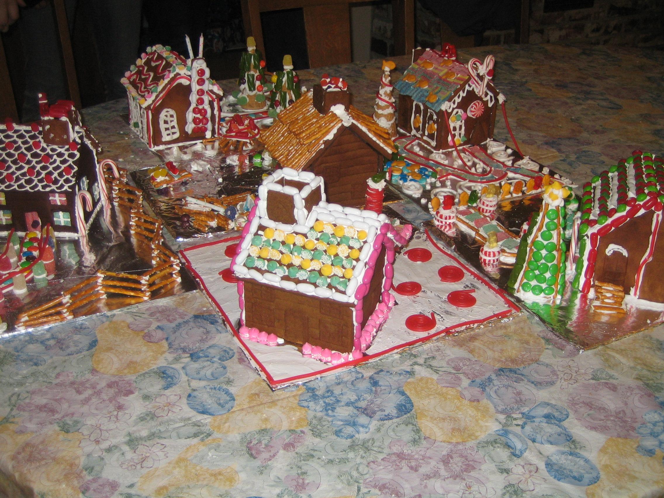 Gingerbread house village-1.JPG