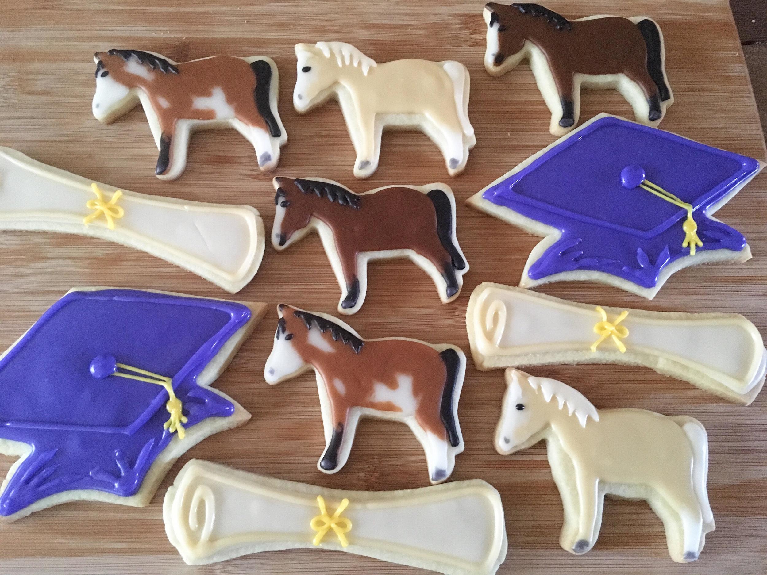 Graduation horse cookies.jpg