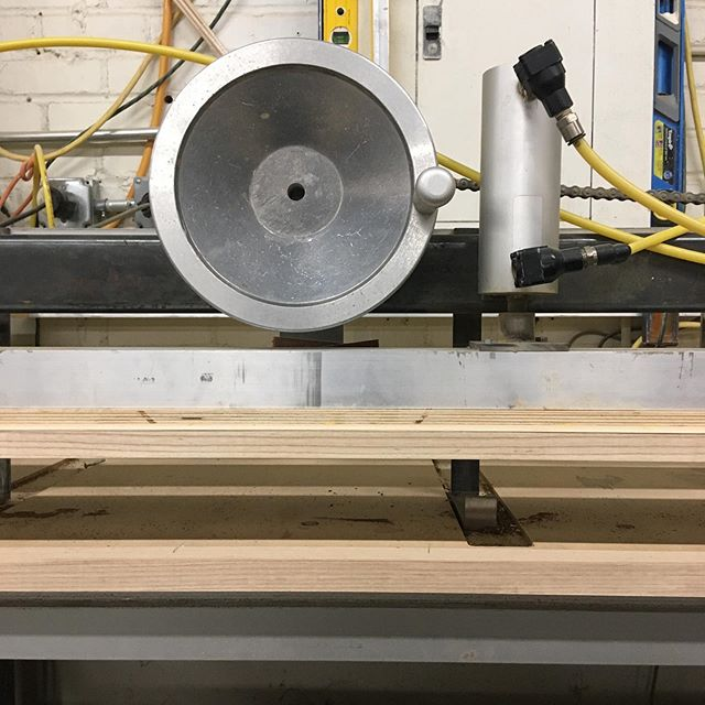 We Love veneer work. This is our custom made ceneer cutting machine.