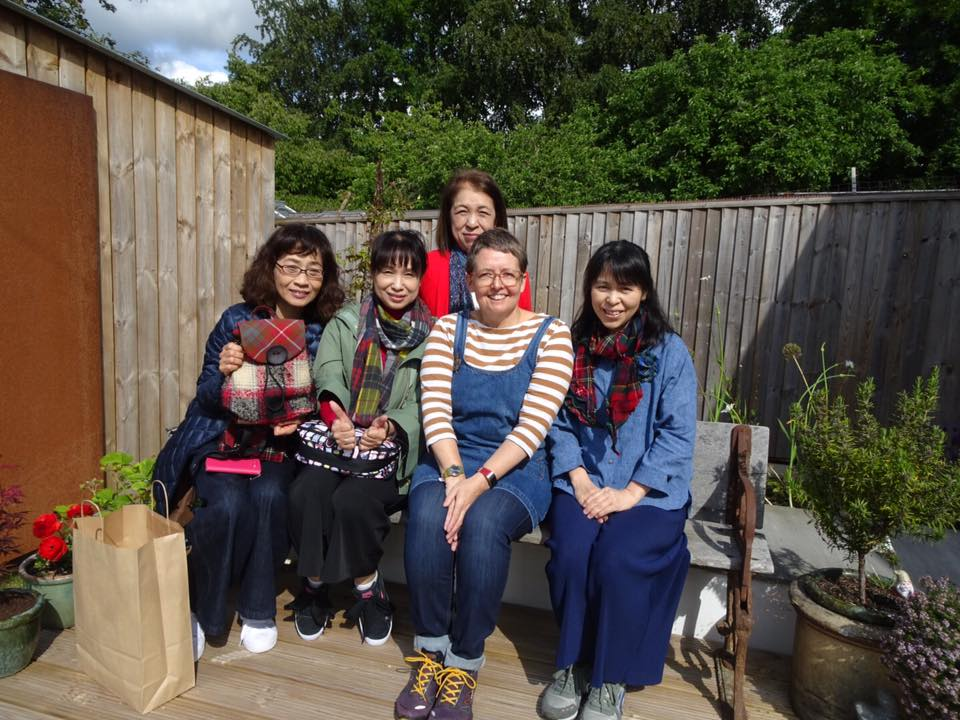 Some very Lovely Japanese customers visiting my studio June 2019