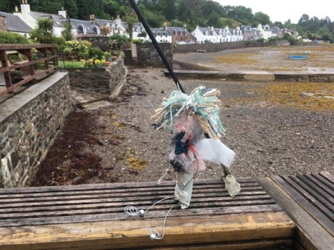 The Wish Faerie enjoyng a wee break with a customer to Plockton. Thanks Kirsty 11/7/19