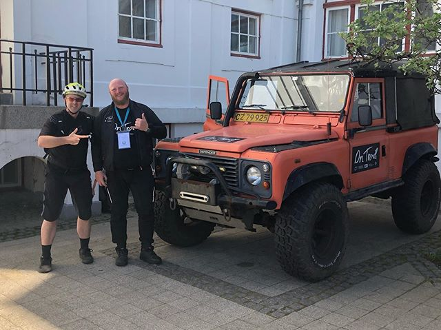 The Danish know how to roll to a trail maintenance session!  Meet Kristopher, clearly of Viking descent, and his On Trail landrover beast!