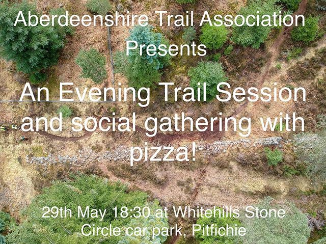 By popular demand let's get our evening sessions started with a cracking chance to get together on the 29th May!  Supported by @bennachie_bike_bothy and @pizzaboxscotland we'd love it if you left work and headed straight to Pitfichie's Whitehills Stone Circle Car Park. You'll be able to buy an amazing wood-fired pizza on site, meet fellow trail enthusiasts and then we will shuttle folk to the trail for an evening of freshening up one of Pitfichie's best natural trails! What could be better?  Here's the catch! We need at least 20 folk signed up to bring this together! Get registered and bring a buddy!  Head to our events page for more details and don't hesitate to ask questions!  #moretrailsclosetohome #trailculture #aberdeenshiremountainbiking #trailfriends