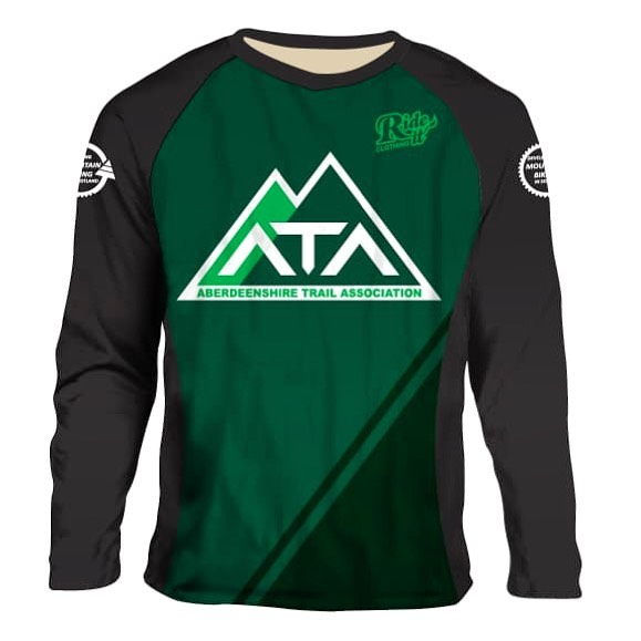 ARRIVED! In stock in all sizes, male and female.  Support the Aberdeenshire Trail Association by grabbing a Custom @ride_it_clothing jersey. Yours for only £34 plus £5 postage!!!! Email us with a size, PayPal address and postage details and your invoice and jersey is on it's way.  Collection in person means no postage charge but why not add a Trail Tip to your PayPal order to help the trail fund even more? All funds go to reinvesting in trail tools, insurance and projects!  If you race we would love it if you registered as TEAM ATA and represented the region in your new jersey!  Wear them with pride, spread good trail vibes, support your local trail work! 💚💚💚