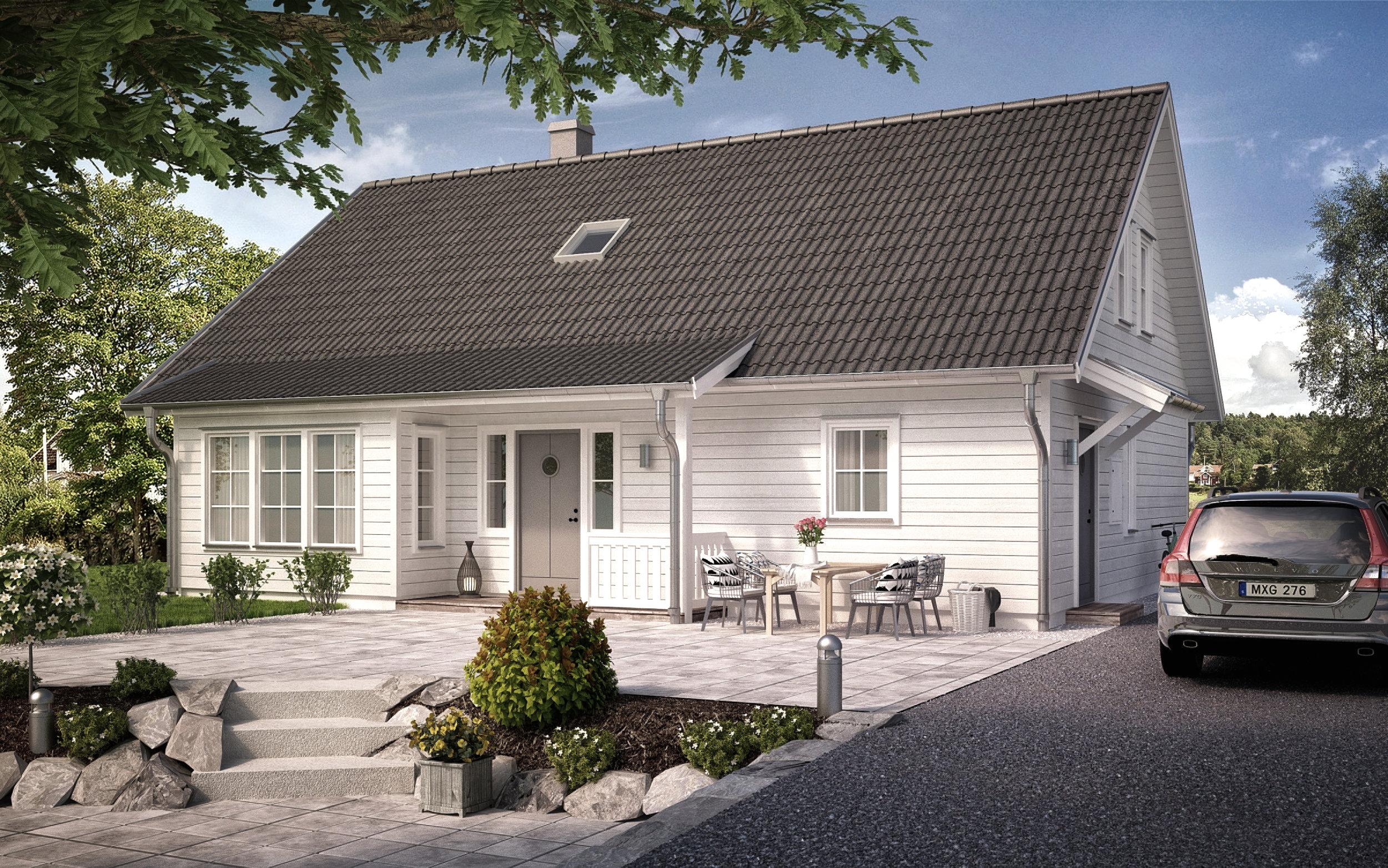 VILLA EKÄNGEN  1,5-planshus Boyta: 169,7 m2 4 sovrum