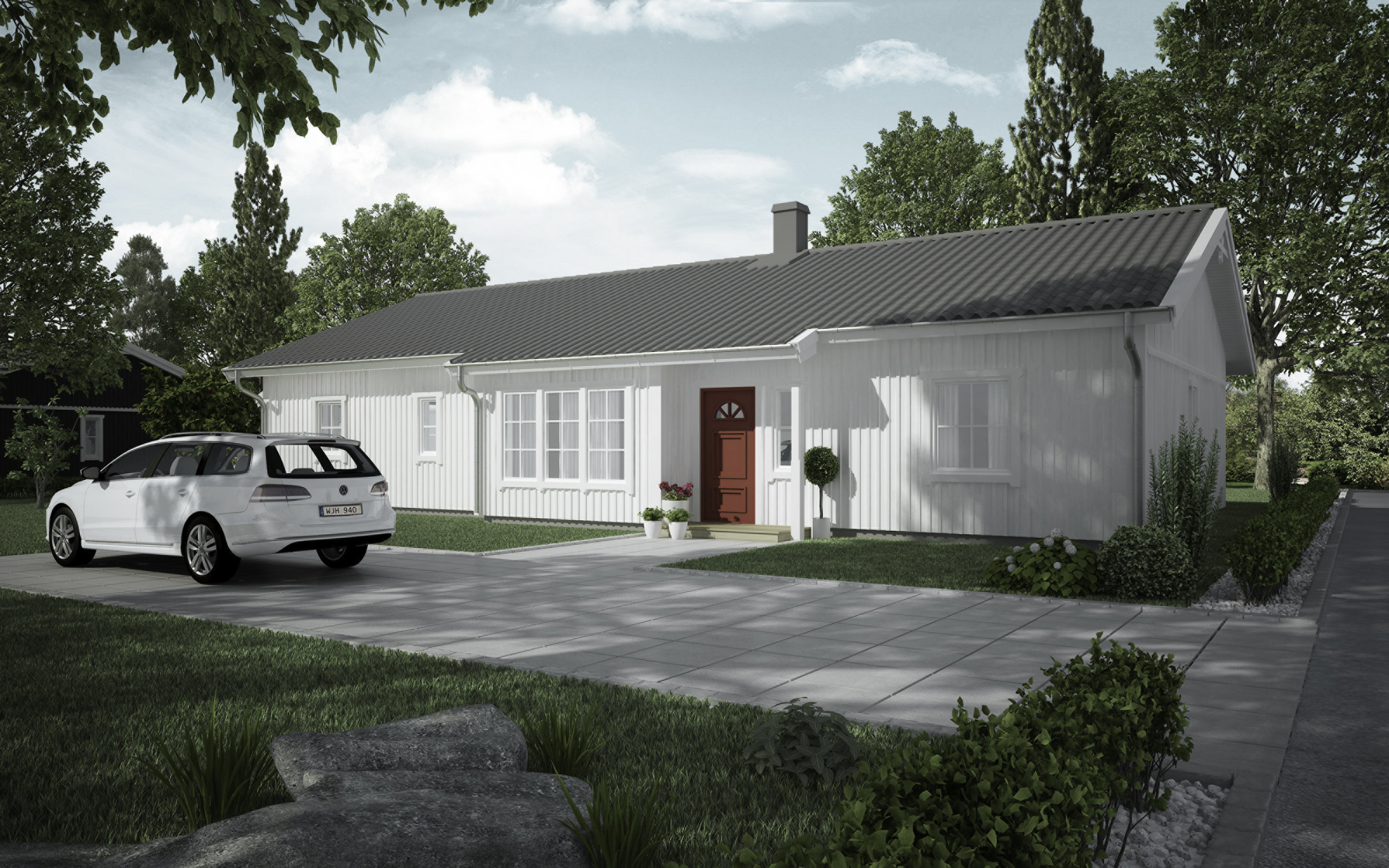 VILLA LÖVÅS  1-planshus Boyta: 143,6 m2 3 sovrum