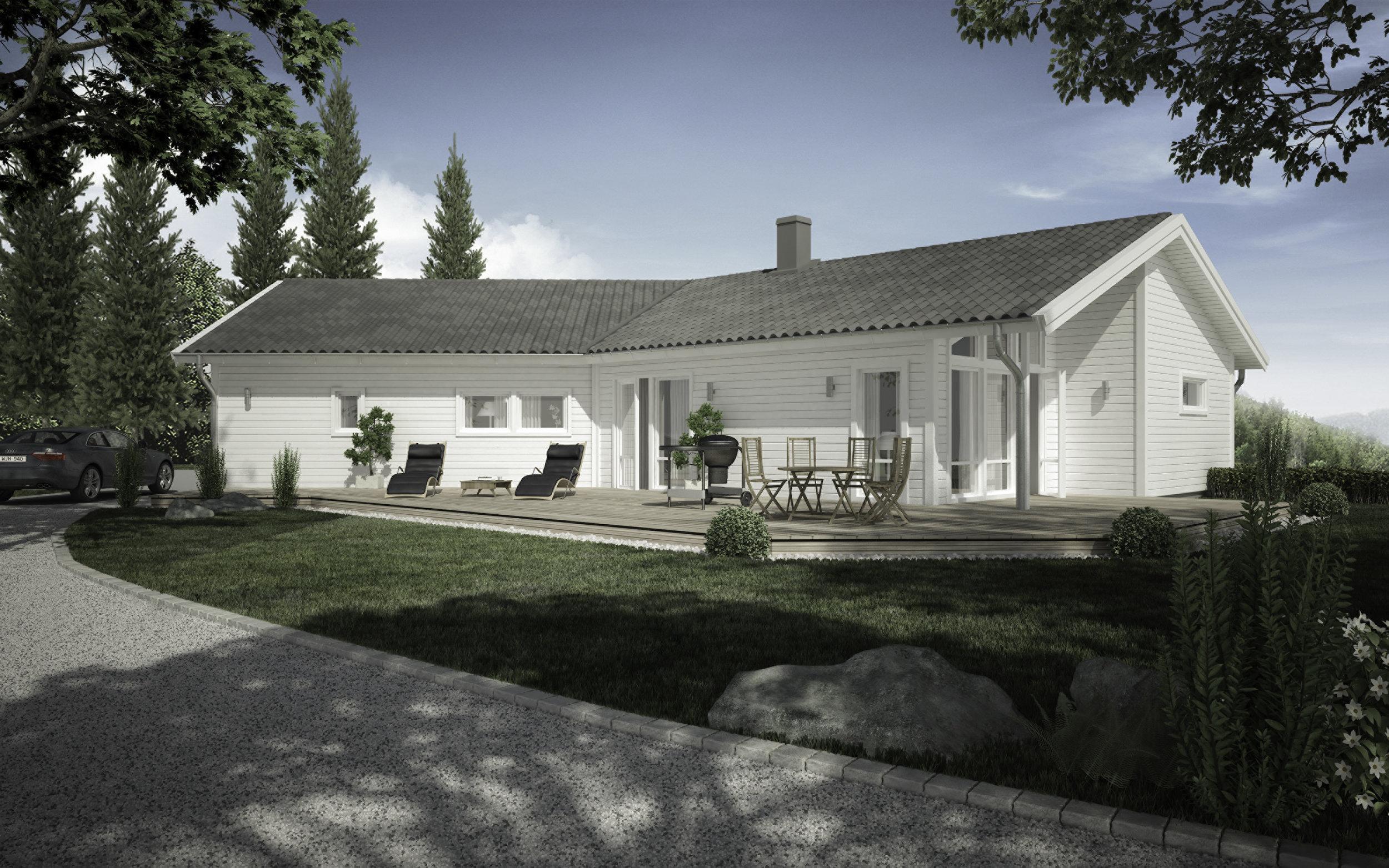 VILLA SANDVIK  1-planshus Boyta: 156,6 m2 4 sovrum