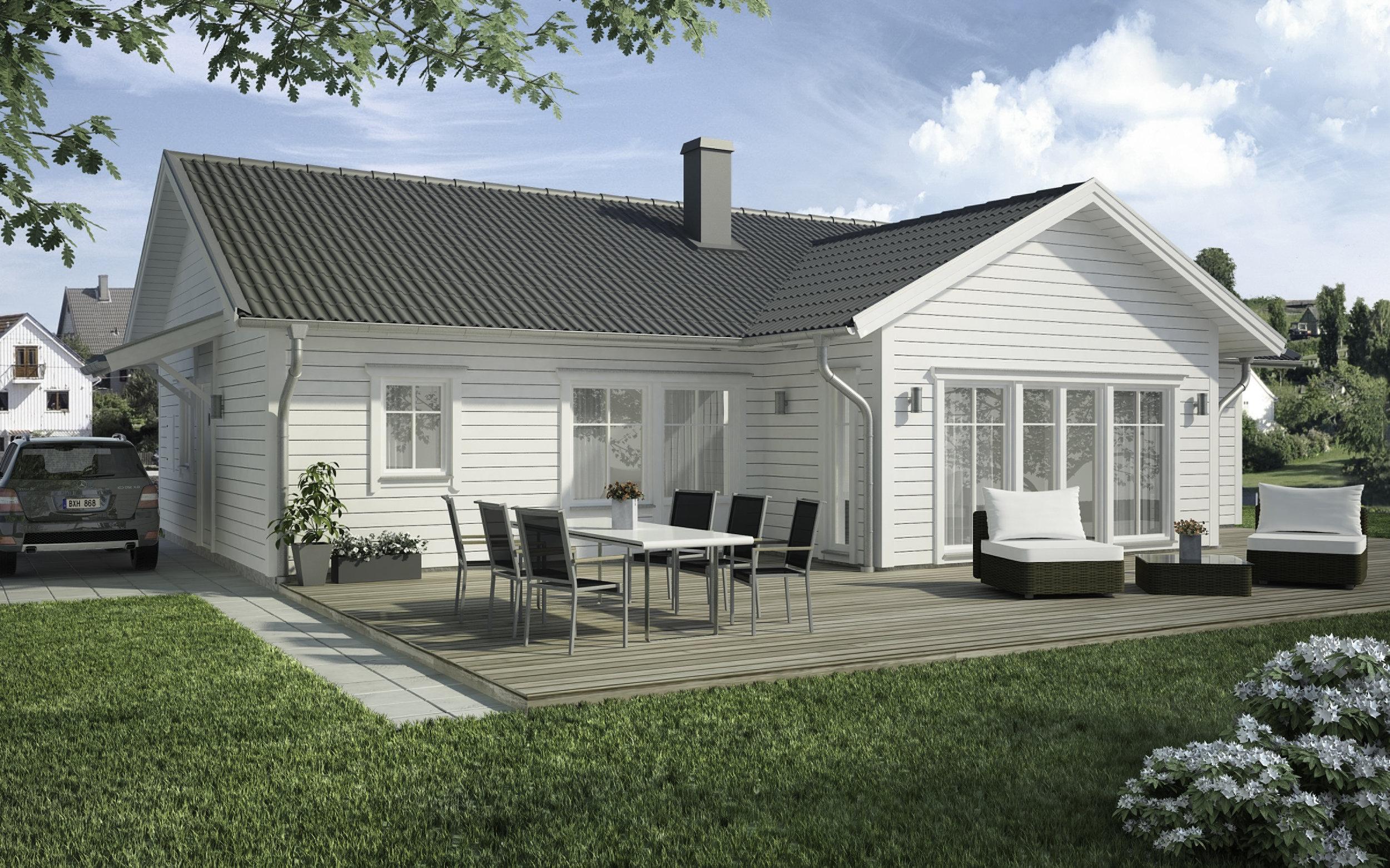 VILLA SANDÄNG  1-planshus Boyta: 136,3 m2 3 sovrum