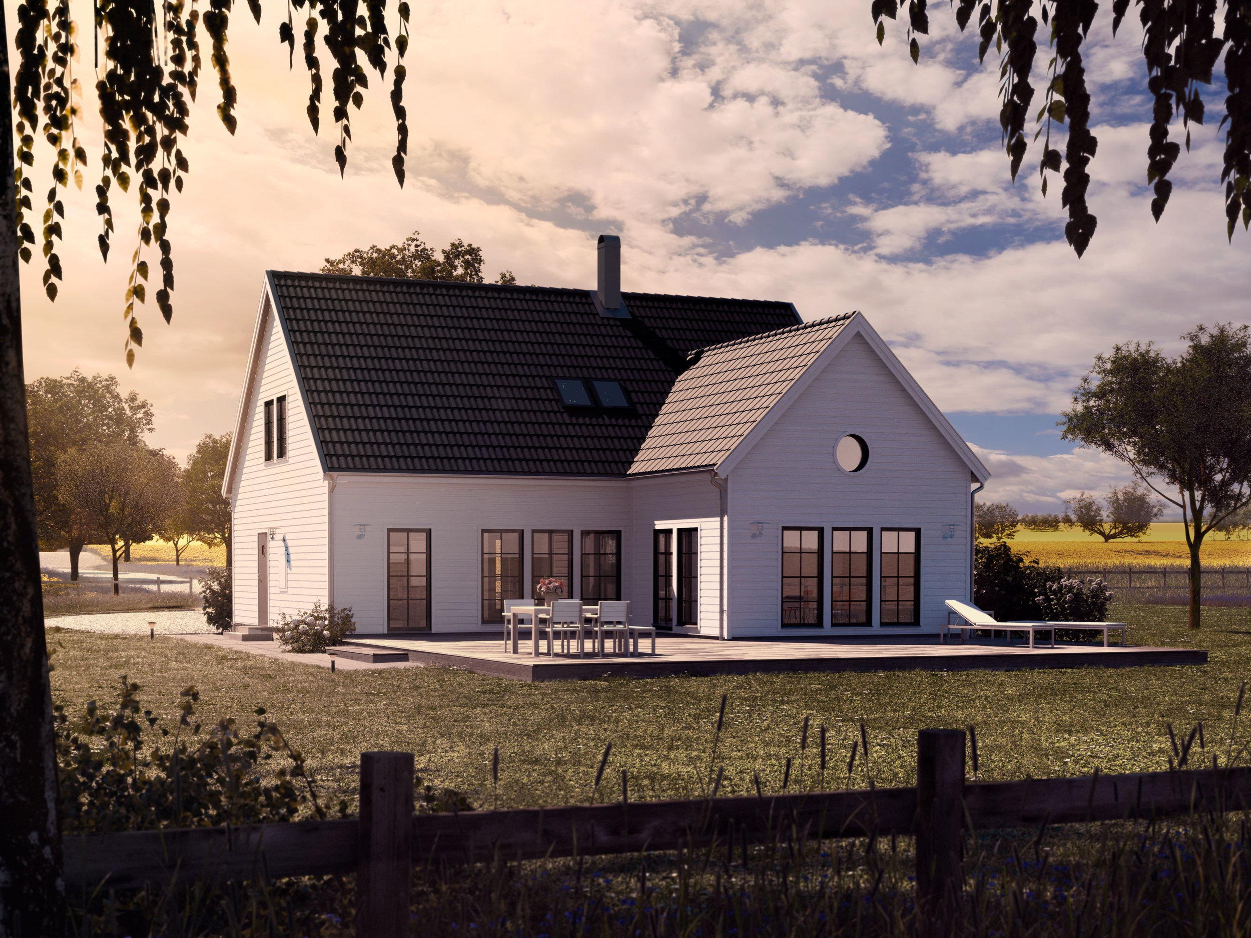 VILLA SJÖVIK  1,5-planshus Boyta: 183,9 m2 4 sovrum