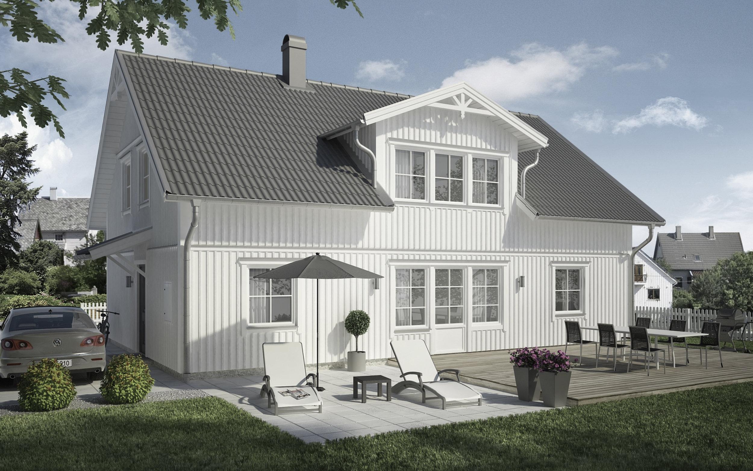 VILLA SÖDERGÅRDEN  2-planshus Boyta: 173,9 m2 5 sovrum