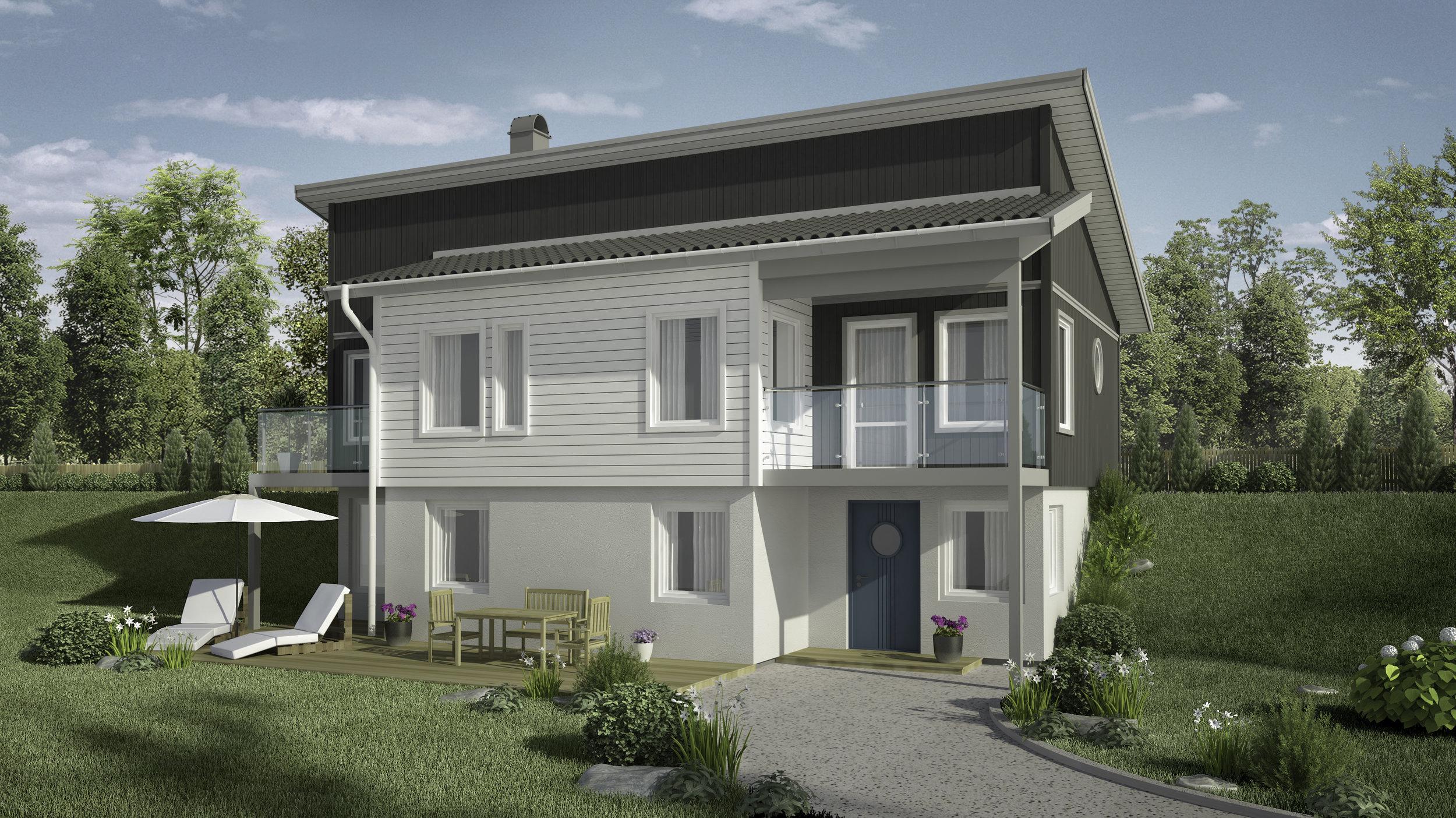 VILLA HÖKÅSEN  Suterränghus Boyta: 173,3 m2 5 sovrum