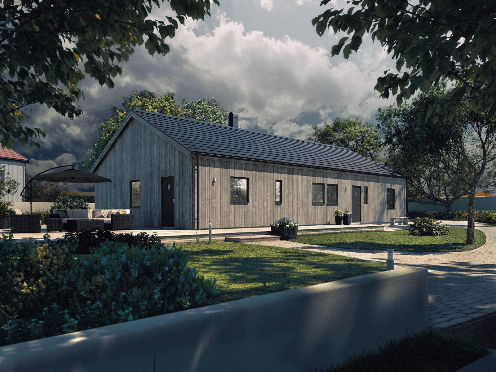 Villa Ljung   1-planshus Boyta 141,1 m2  4 sovrum