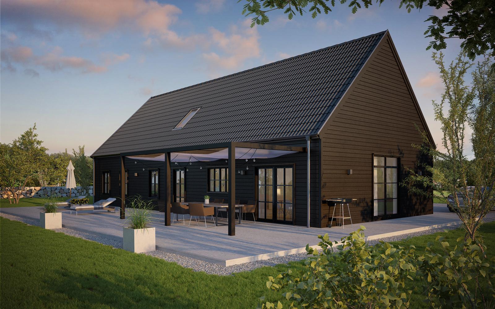 Villa Hagalund  1,5-planshus Boyta 138,1 m2  (oinredd vind + 59,2 m)  3 sovrum