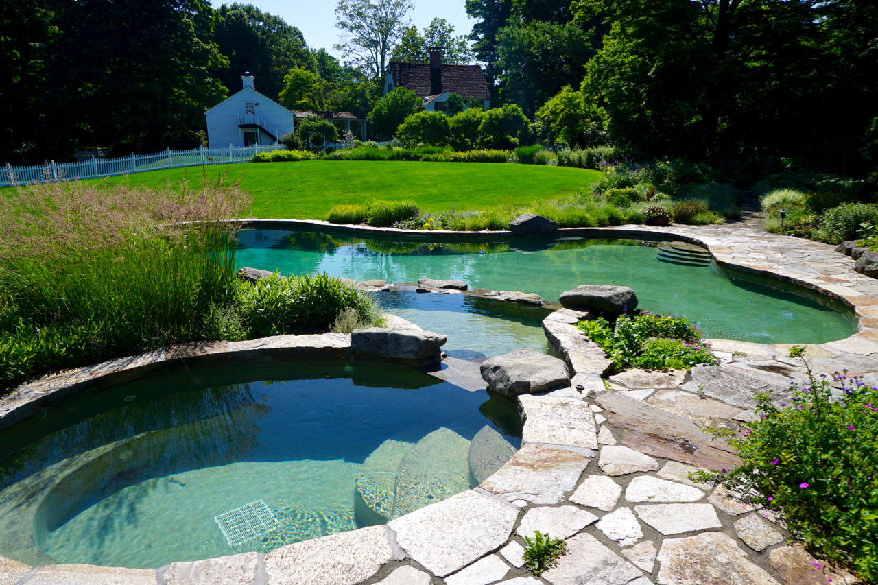 In-ground free form swimming pool