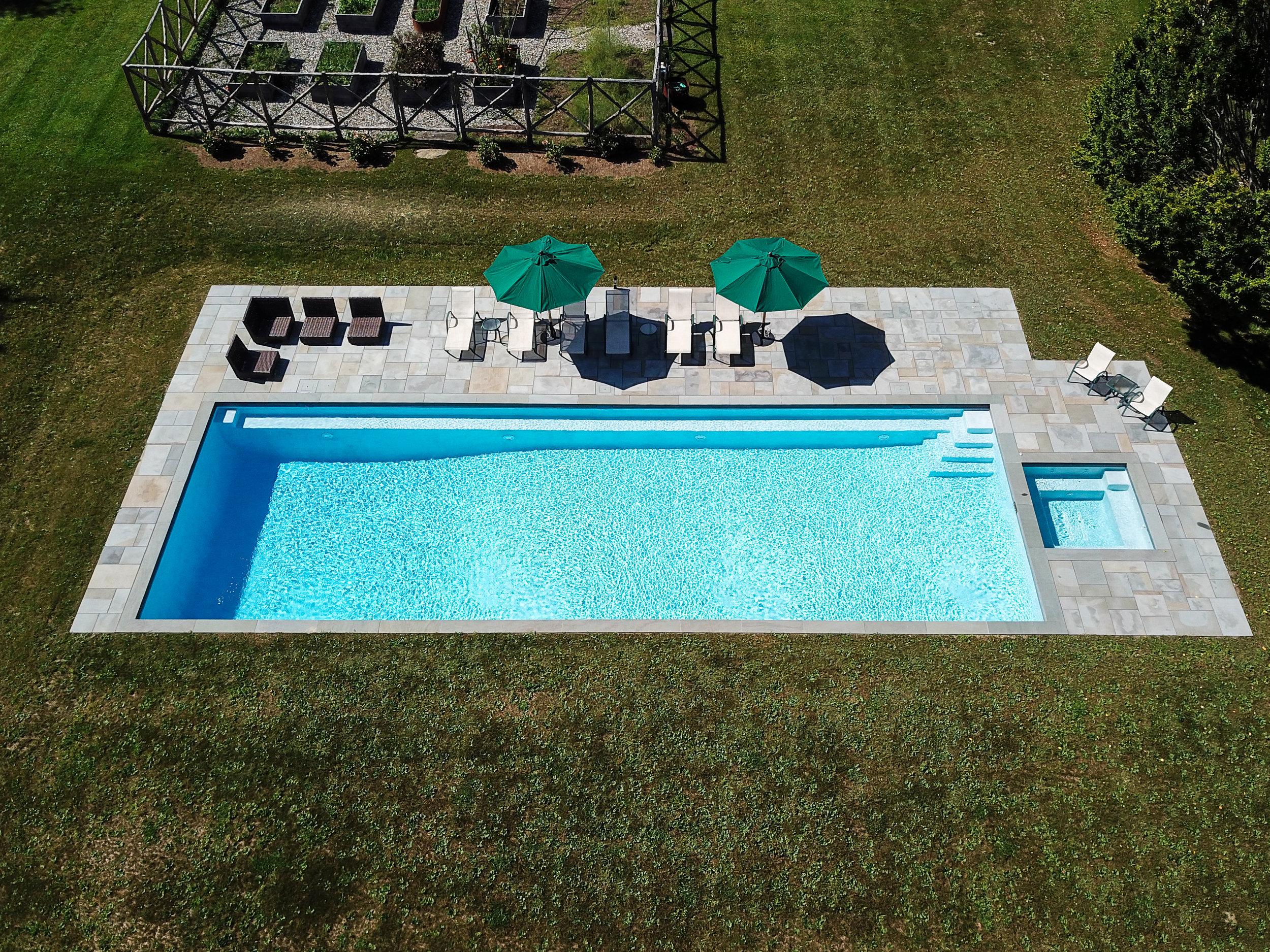 In-ground custom rectangular swimming pool