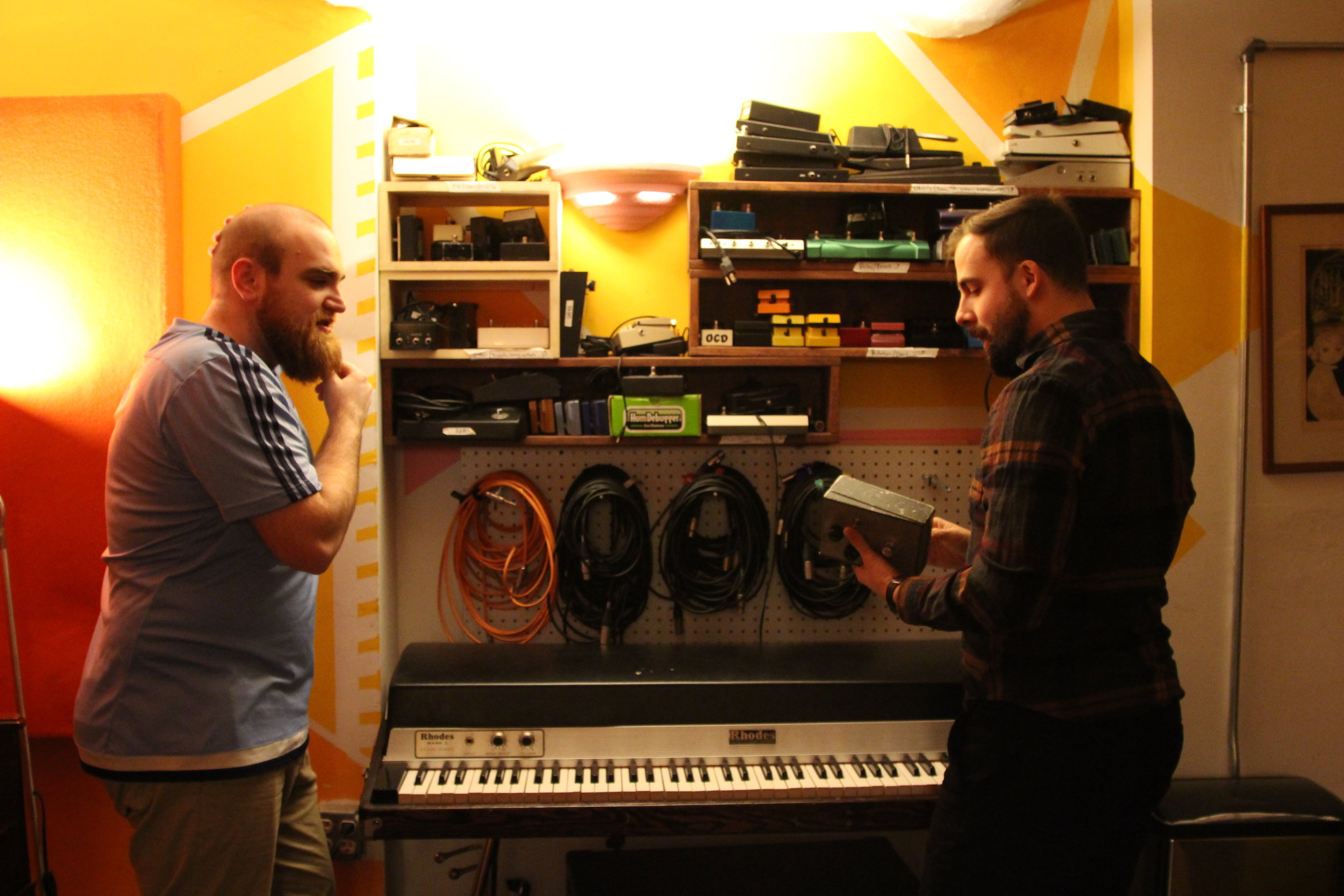Recording at Roig Recording