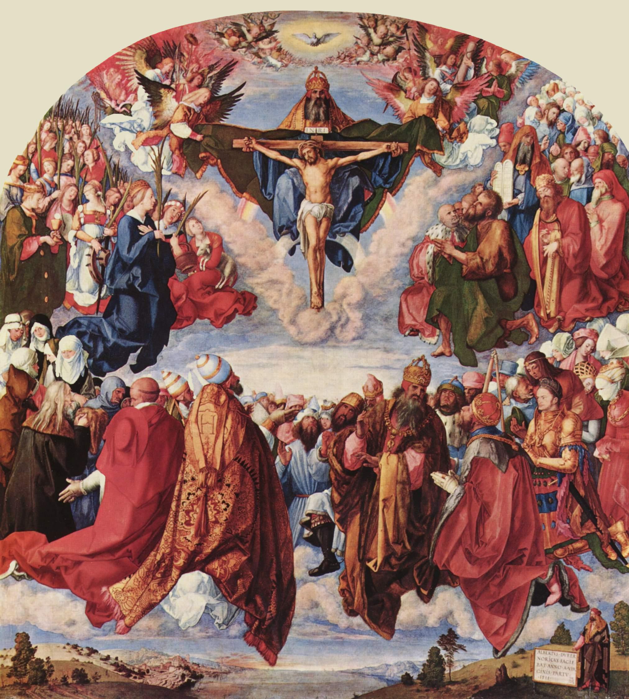 "Dürer, ""Adoration of the Trinity"" (Public Domain)"