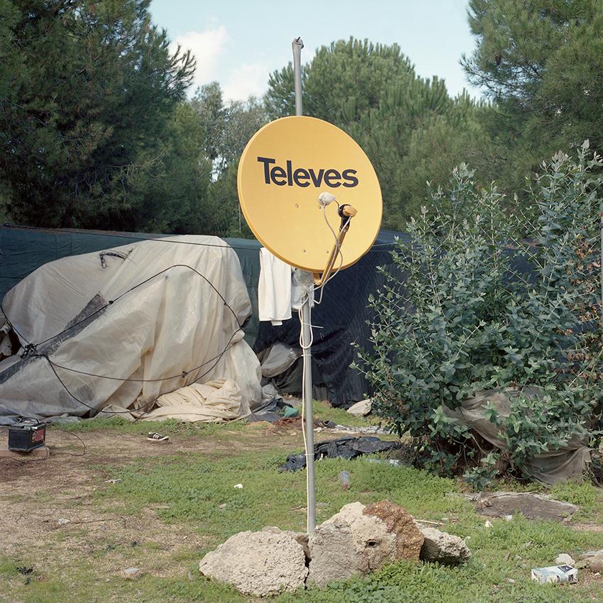 Satellite TV Antenna in Lucena del Puerto (HU) Settlement, 2018