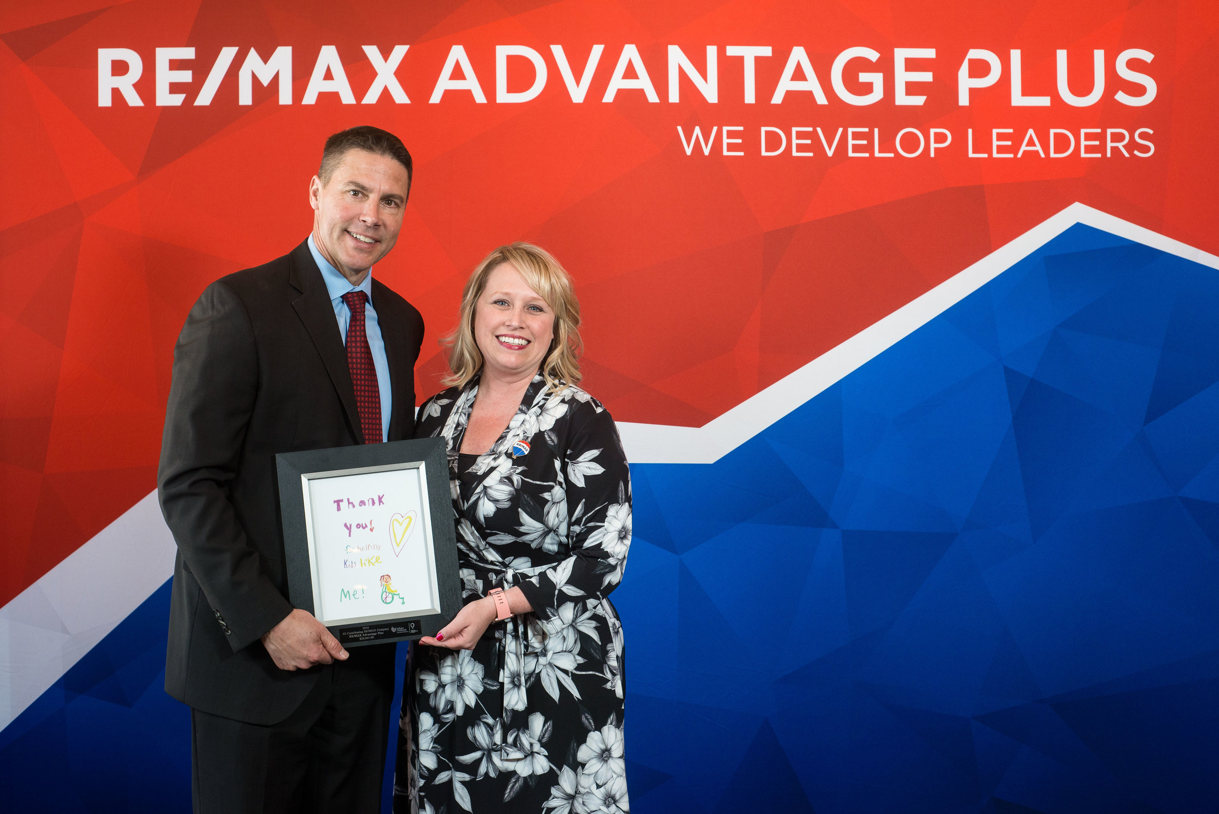 Last year, RE/MAX Advantage Plus associates donated $28,065 to the Children's Miracle Network Hospitals