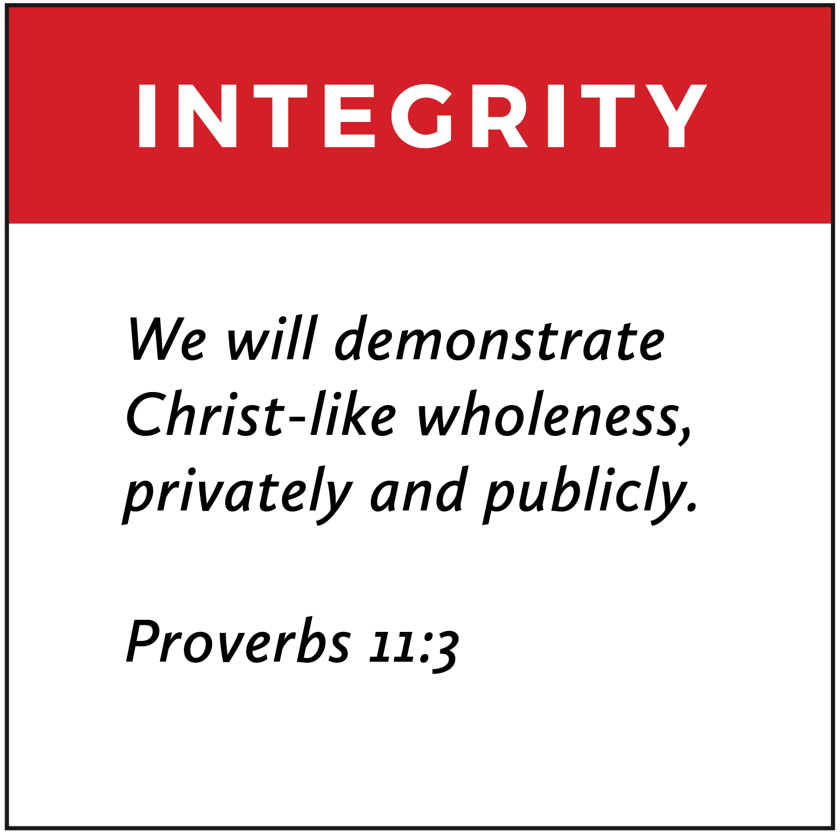Integrity | FCA Values