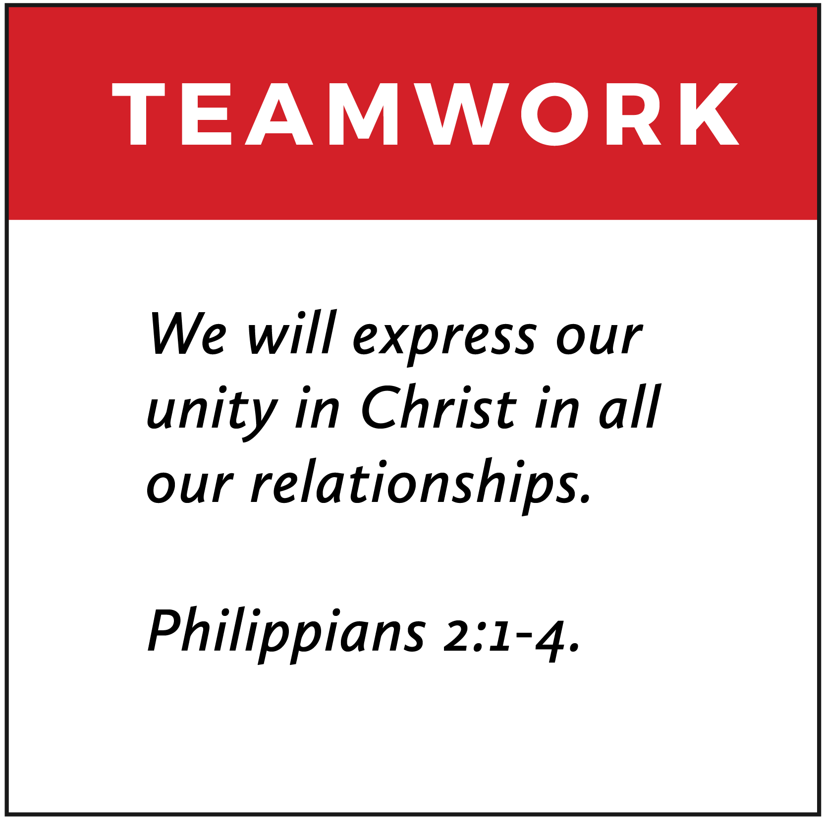 Teamwork | FCA Values