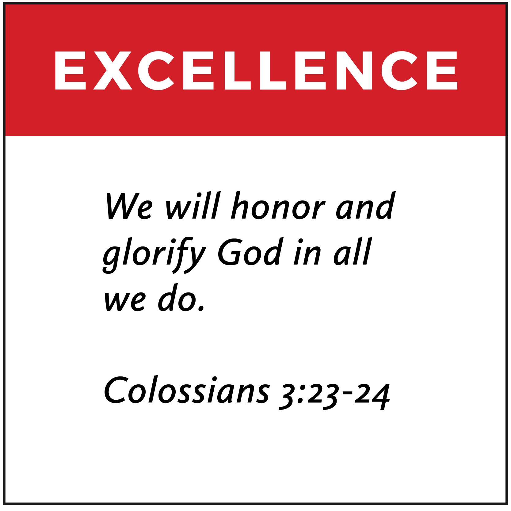 Excellence | FCA Values