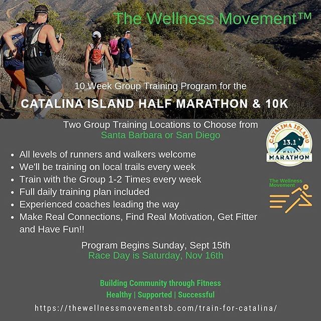 Need to get your Half Marathon/10K training into gear? 🏃‍♀️🏃‍♂️ ⠀⠀⠀⠀⠀⠀⠀⠀⠀⠀⠀⠀⠀⠀⠀⠀⠀⠀⠀⠀⠀⠀⠀⠀⠀⠀⠀⠀⠀⠀⠀⠀⠀⠀⠀⠀The @the_wellness_movement_usa training program starts this weekend in Santa Barbara and San Diego. ⠀⠀⠀⠀⠀⠀⠀⠀⠀⠀⠀⠀⠀⠀⠀⠀⠀⠀⠀⠀⠀⠀⠀⠀⠀⠀⠀⠀⠀⠀⠀⠀⠀⠀⠀⠀⠀⠀⠀⠀⠀⠀⠀⠀⠀⠀⠀⠀⠀⠀⠀⠀⠀⠀⠀⠀⠀⠀⠀⠀ 📷: @cindyabrami_twm ⠀⠀⠀⠀⠀⠀⠀⠀⠀⠀⠀⠀⠀⠀⠀⠀⠀⠀⠀⠀⠀⠀⠀⠀⠀⠀⠀⠀⠀⠀⠀⠀⠀⠀⠀⠀⠀⠀⠀⠀⠀⠀⠀⠀⠀⠀⠀⠀⠀⠀⠀⠀⠀⠀⠀⠀⠀⠀⠀⠀⠀⠀⠀⠀⠀⠀⠀⠀⠀ #spectrumsports #runcatalina #catalinaisland #vacationraces #desinationevents #trailrunning #instarunner #runtoinspire #runhappy #runningmotivation #scenicviews #ruggedtrails #trailrunner #training