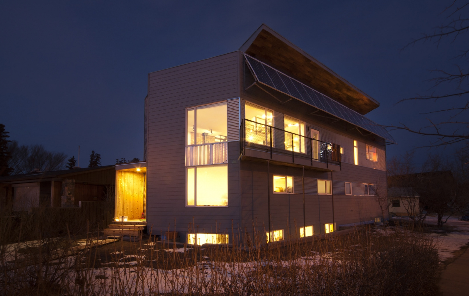 We have a 4.8 kW solar array and created a passive solar design.