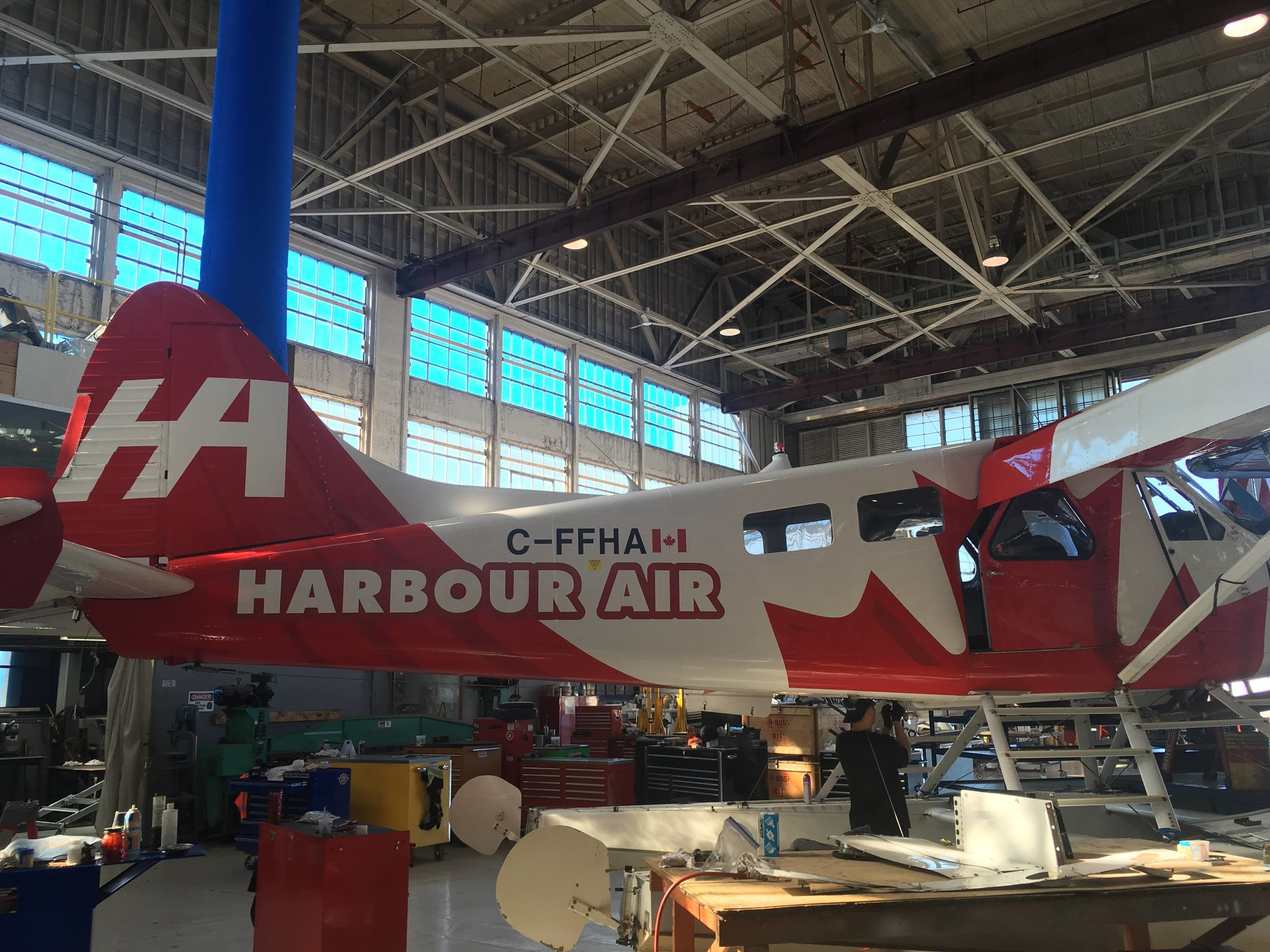 Touring the hangars at Harbour Air YVR airport!