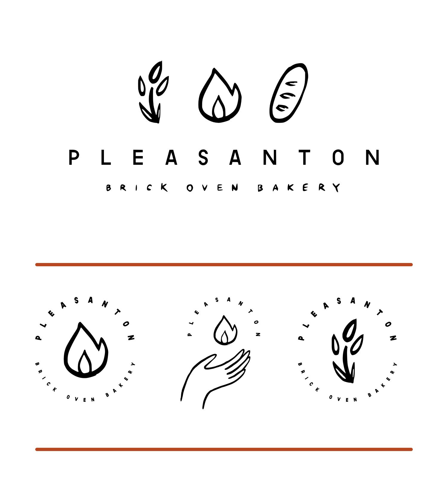 custom illustrated bakery logo by em randall